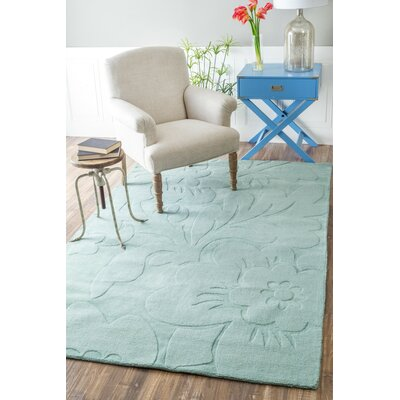 Stambruges Hand-Woven Moss Area Rug Rug Size: Rectangle 76 x 96