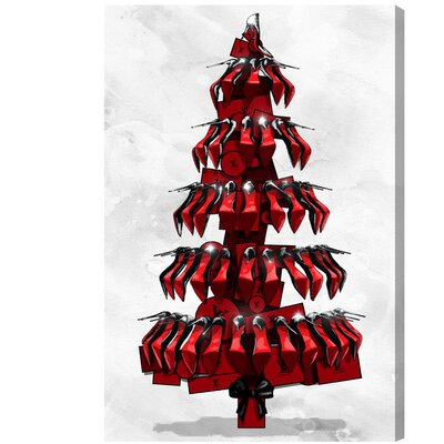 Shoe Tree Black Graphic Art on Wrapped Canvas Size: 15