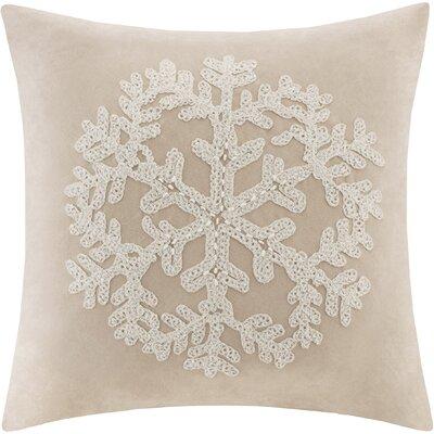 Woodbridge Snowflake Throw Pillow Color: Tan