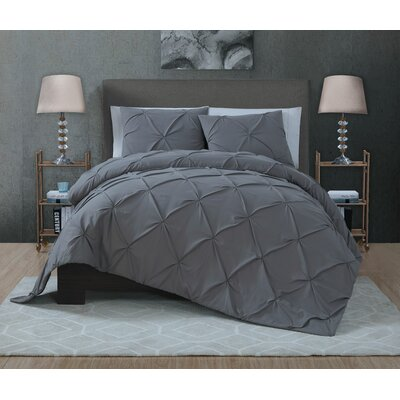 Eleonor 3 Piece Quilt Set Size: Queen, Color: Gray