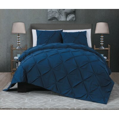 Hedstrom 3 Piece Quilt Set Size: Queen, Color: Navy