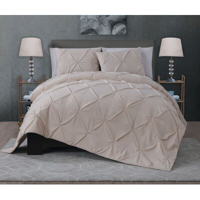 Eleonor 3 Piece Quilt Set Size: King, Color: Taupe