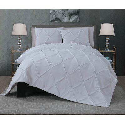 Eleonor 3 Piece Quilt Set Size: King, Color: White
