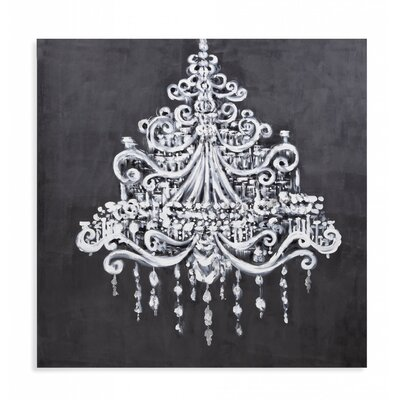 Dramatic Chandelier Painting Print on Canvas
