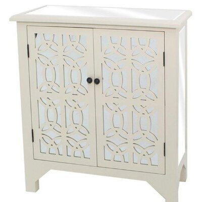 Cotgrave 2 Door Accent cabinet Finish: Off-White