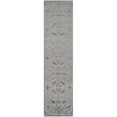 Blackpool Hand-Knotted Pewter Area Rug