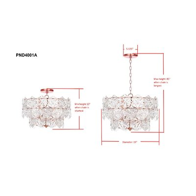 Thatcham 4-Light Pendant Lamp