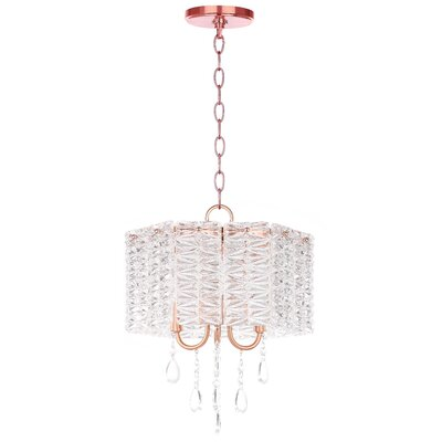 Zeppelin 3-Light Crystal Chandelier Finish: Copper