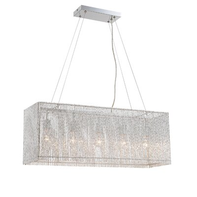 Dean 5-Light Kitchen Island Crystal Pendant