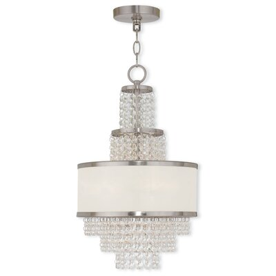 Mac 3-Light Drum Chandelier Finish: Brushed Nickel