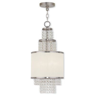 Mac 2-Light Drum Chandelier Finish: Brushed Nickel