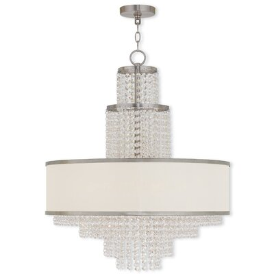 Mac 6-Light Drum Chandelier Finish: Brushed Nickel