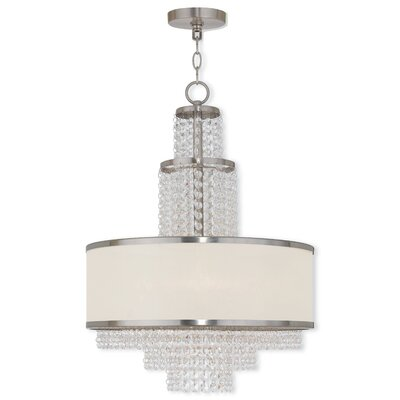 Mac 5-Light Drum Chandelier Finish: Brushed Nickel