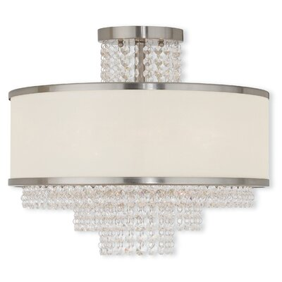 Mac 5-Light Semi-Flush Mount Finish: Brushed Nickel
