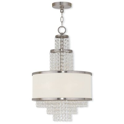 Mac 3-Light Crystal Chandelier Finish: Brushed Nickel
