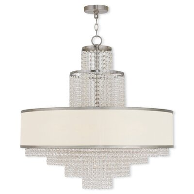 Mac 8-Light Drum Chandelier Finish: Brushed Nickel