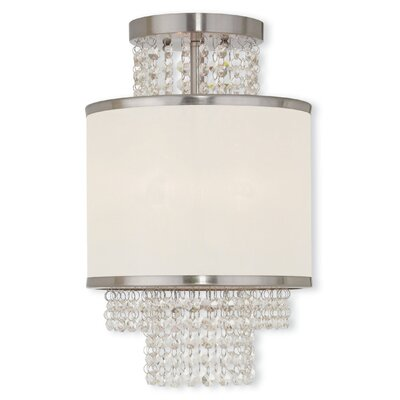 Mac 3-Light Semi-Flush Mount Finish: Brushed Nickel