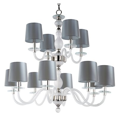 Lennon 12-Light Shaded Chandelier