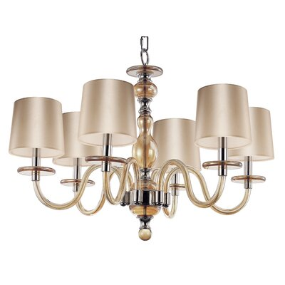 Lennon 6-Light Shaded Chandelier