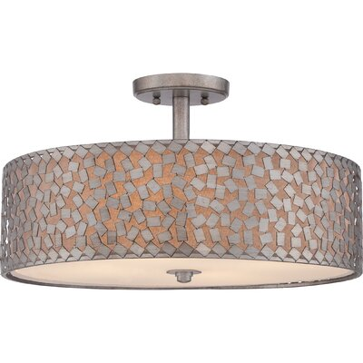 Avery 2-Light Semi Flush Mount Size: 11.5 H x 20 W x 20 D