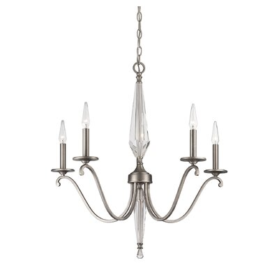 Arthur 5 Light Candle-Style Chandelier