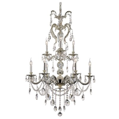 Seraphina 9-Light Crystal Chandelier
