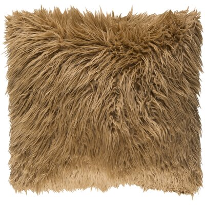 Shanklin Pillow Cover Size: 18 H x 18 W x 1 D, Color: Brown