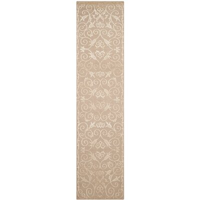 Billie Hand-Knotted Beige Area Rug Rug Size: Runner 26 x 12