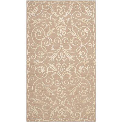 Billie Hand-Knotted Beige Area Rug Rug Size: Rectangle 4 x 6