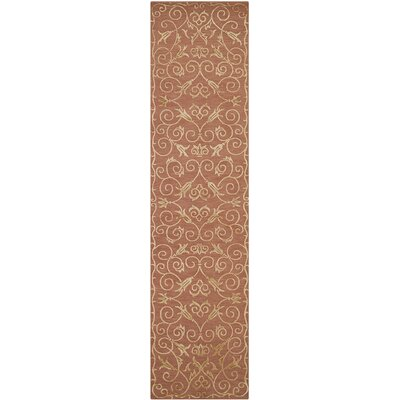 Kelsie Hand-Knotted Rust Area Rug