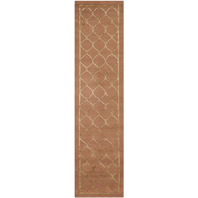 Jerlene Hand-Knotted Rust Area Rug Rug Size: Runner 2'6