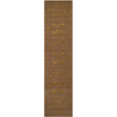 Longchamps Hand-Knotted Brown Area Rug Rug Size: Runner 2'6