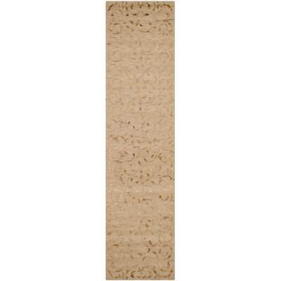 Cheston Hand-Knotted Gold Area Rug Rug Size: Runner 26 x 12
