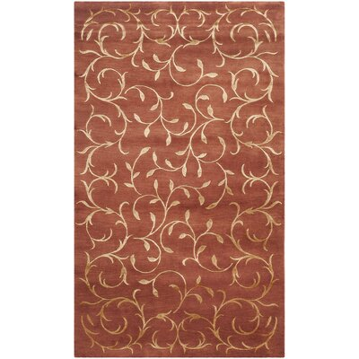 Osbourne Hand-Knotted Rust/Gold Area Rug Rug Size: Rectangle 4 x 6
