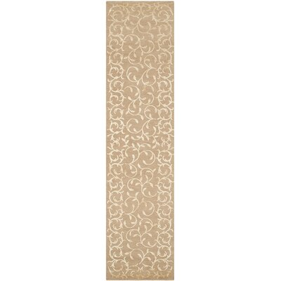 Yves Hand-Knotted Beige Area Rug Rug Size: Runner 26 x 12