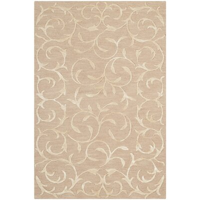 Echevarria Hand-Knotted Beige Area Rug Rug Size: Rectangle 4 x 6