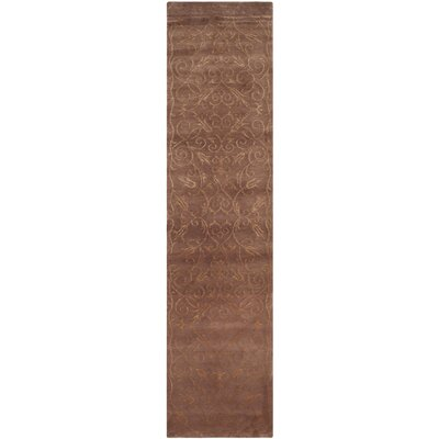 Anita Hand-Knotted Brown Area Rug Rug Size: Runner 26 x 12