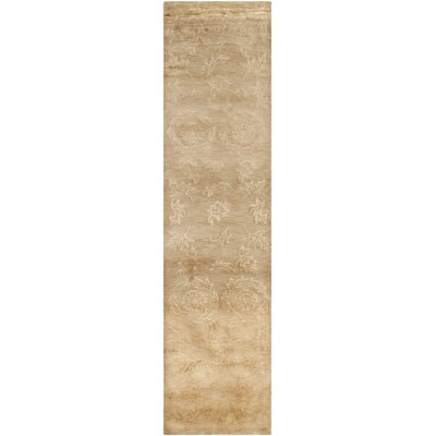 Anjelica Hand-Knotted Beige Area Rug