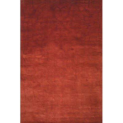 Anna Hand-Knotted Raspberry Area Rug