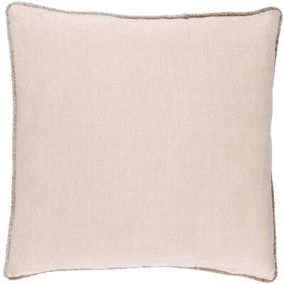Bakalyan Linen Throw Pillow Size: 18 H x 18 W x 4 D, Color: Pink