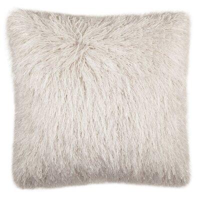 Baer Shag Modish Metallic Throw Pillow