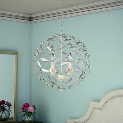 4-Light Globe Pendant Finish: Antique White