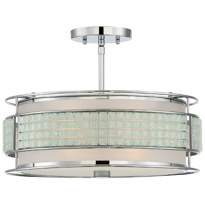 Roden 3-Light Semi Flush Mount