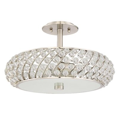 Gagne 3-Light Semi Flush Mount