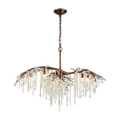 Elamin 6-Light Crystal Chandelier