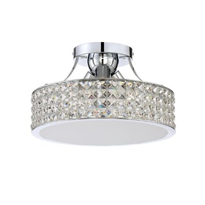 Eriksen 3-Light Semi Flush Mount