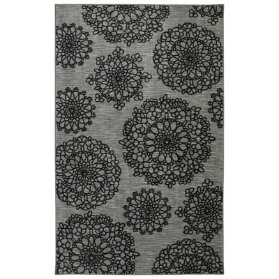 Selznick Palto Alto Gray/Black Area Rug Rug Size: Rectangle 5 x 8