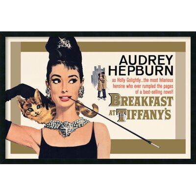 Breakfast at Tiffany's - Gold Framed Painting Print