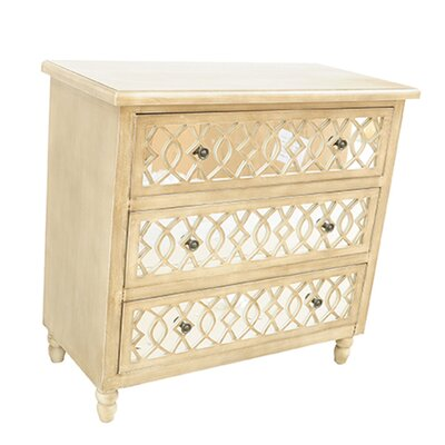 Gossoncourt 3 Drawer Mirror Chest