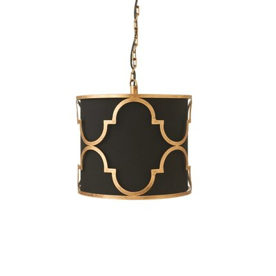 Bredene Geometric Drum Pendant Shade Color: Linen